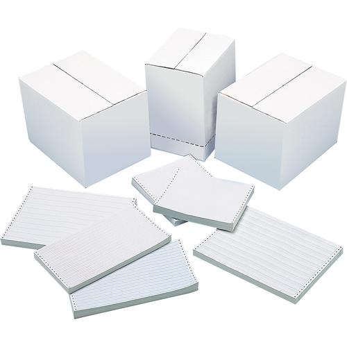 """DATA 9500-T0P Dot Matrix Continuous Paper - 9 1/2"""" x 11"""" - 20 lb Basis Weight - 2750 / Carton"""