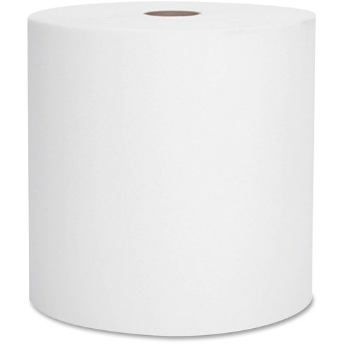 "Scott Recycled Paper Towels - 2 Ply - 8"" x 15"" - White - Fiber - Eco-friendly, Absorbent, Nonperforated - For Hand - 12 Rolls Per Carton - 12 / Carton"