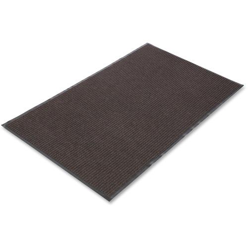 "Crown Mats Needle-rib Wiper/Scraper Mat - Indoor - 60"" Length x 36"" Width x 0.31"" Thickness - Rectangle - Polyethylene Terephthalate (PET), Polypropylene, Vinyl - Brown"
