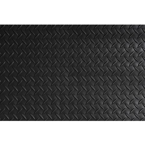 "Crown Mats Industrial Deck Plate Anti-fatigue Mat - Industry, Indoor - 60"" Length x 36"" Width x 0.56"" Thickness - Rectangle - Diamond Pattern Texture - Vinyl, PVC Foam - Black"