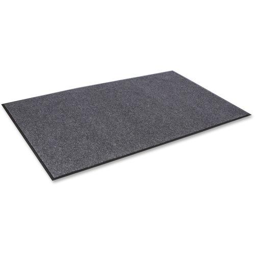 "Crown Mats Eco-Step Recycled Wiper Mat - Floor, Indoor, Corridors - 60"" Length x 36"" Width - Rectangle - Vinyl, Polyethylene Terephthalate (PET) - Charcoal"
