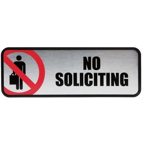 COS098208 COSCO No Soliciting Image//Message Sign