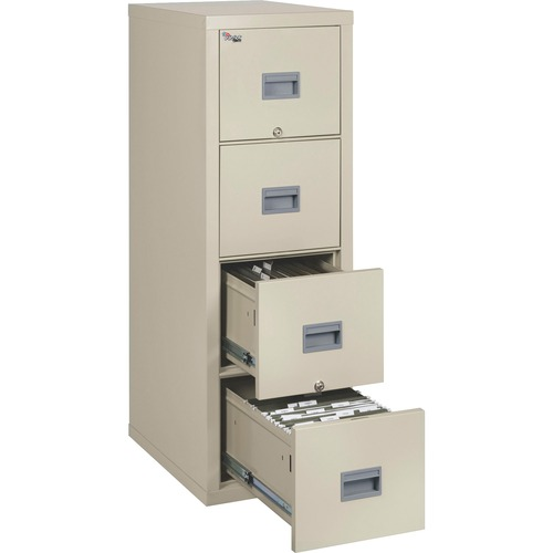 """FireKing Patriot Series 4-Drawer Vertical Files - 17.7"""" x 25"""" x 52.8"""" - 4 x Drawer(s) for File - Legal, Letter - Vertical - Fire Proof, Impact Resista"""