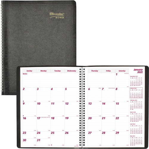 brownline soft cover 14 month monthly planner julian daily