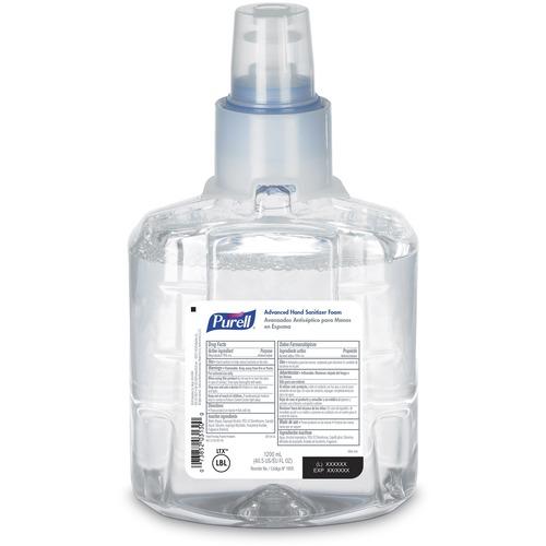 PURELL® Sanitizing Foam Refill - 40.6 fl oz (1200 mL) - Kill Germs - Skin, Hand - Chemical-free - 1 Each