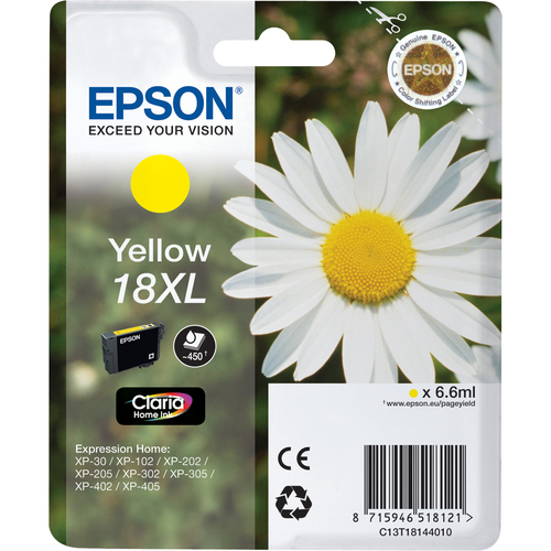 Epson Ink Cartridge - Yellow - Inkjet - 450 Page