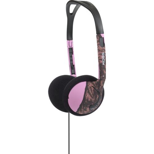 KOSS CORPORATION KMO15P MOSSY OAK ON-EAR HEADPHONE 3.5MM 4FT PINK W/VC