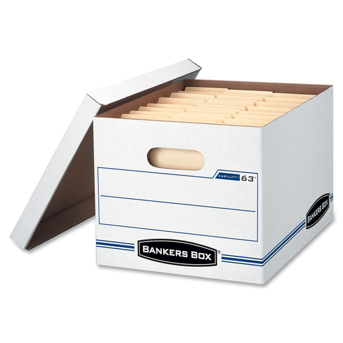 "Bankers Box Easylift™ - Letter/Letter - Internal Dimensions: 12"" (304.80 mm) Width x 12"" (304.80 mm) Depth x 10"" (254 mm) Height - External Dime"