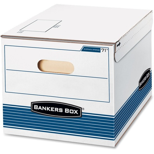 "Bankers Box Letter/Legal Storage Box - TAA Compliant - Internal Dimensions: 12"" (304.80 mm) Width x 15"" (381 mm) Depth x 10"" (254 mm) Height - Externa"