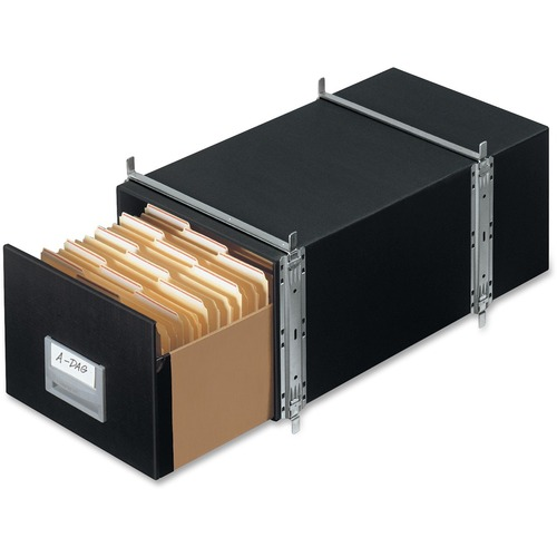 "Bankers Box Staxonsteel® - Letter - Internal Dimensions: 12"" (304.80 mm) Width x 24"" (609.60 mm) Depth x 10.50"" (266.70 mm) Height - External Dime"