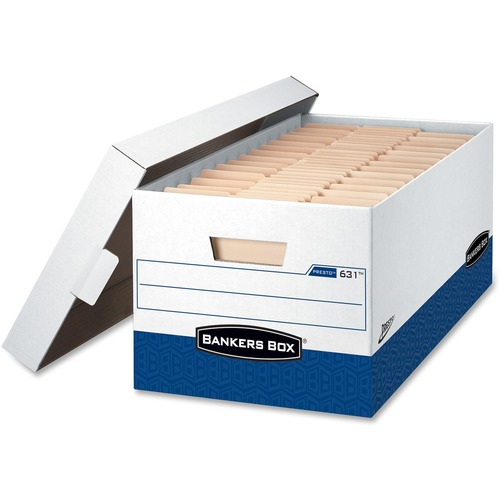 "Bankers Box Presto™ - 24"" Letter - Internal Dimensions: 12"" (304.80 mm) Width x 24"" (609.60 mm) Depth x 10"" (254 mm) Height - External Dimension"