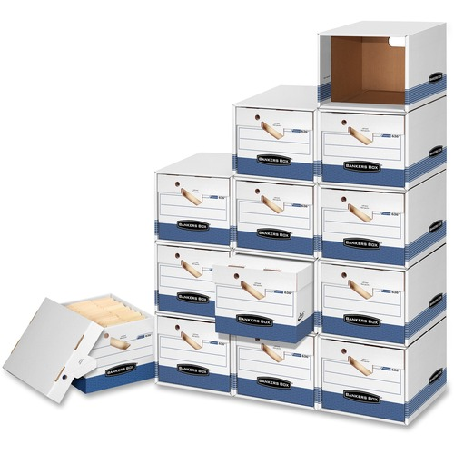 "Fellowes Presto Storage Box with Locking Lid - TAA Compliant - Internal Dimensions: 15"" (381 mm) Width x 24"" (609.60 mm) Depth x 10"" (254 mm) Height -"
