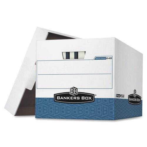 "Bankers Box Data-Pak 00648 Storage Box - TAA Compliant - Internal Dimensions: 12.75"" (323.85 mm) Width x 16"" (406.40 mm) Depth x 12.50"" (317.50 mm) He"