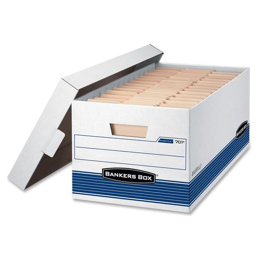 "Fellowes Stor/File Medium-Duty Storage Boxes - FastFold - Internal Dimensions: 12"" (304.80 mm) Width x 24"" (609.60 mm) Depth x 10"" (254 mm) Height - E"