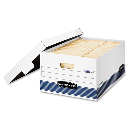 """Bankers Box Stor/File Medium-Duty Storage Boxes - FastFold - Internal Dimensions: 15"""" (381 mm) Width x 24"""" (609.60 mm) Depth x 10"""" (254 mm) Height - E"""