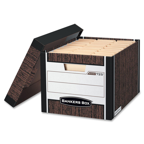 "Bankers Box R-Kive Storage Box - Internal Dimensions: 12"" (304.80 mm) Width x 15"" (381 mm) Depth x 10"" (254 mm) Height - External Dimensions: 12.8"" Wi"