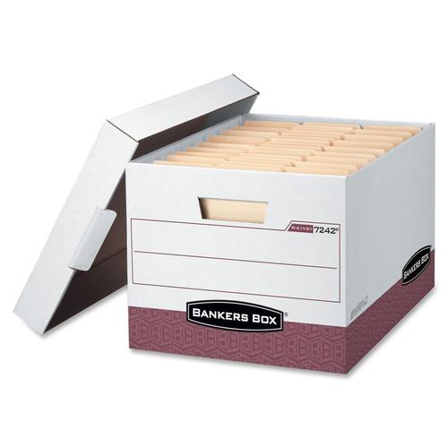 "Bankers Box R-Kive Storage Box - TAA Compliant - Internal Dimensions: 12"" (304.80 mm) Width x 15"" (381 mm) Depth x 10"" (254 mm) Height - External Dime"