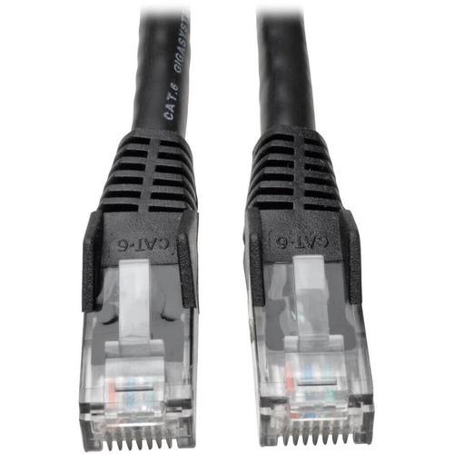 TRIPP LITE 100FT CAT6 BLACK GIGABIT MOLDED SNAGLESS RJ45 M/M PATCH CABLE