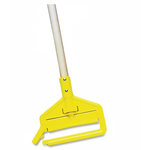 "Rubbermaid Commercial Invader Side-Gate Wet-Mop Handle 60/"" 1-1//8/""Dia Wood//Steel"