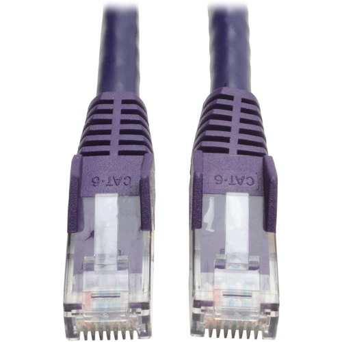 Tripp Lite 10ft Cat6 Gigabit Snagless Molded Patch Cable RJ45 M/M Purple 10'