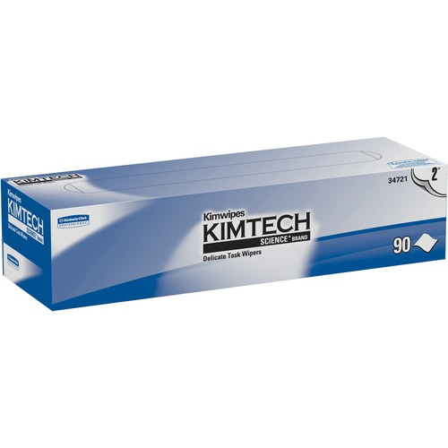 """KIMTECH Delicate Task Wipers - 2 Ply - 14.7"""" x 16.6"""" - White - Soft, Absorbent"""