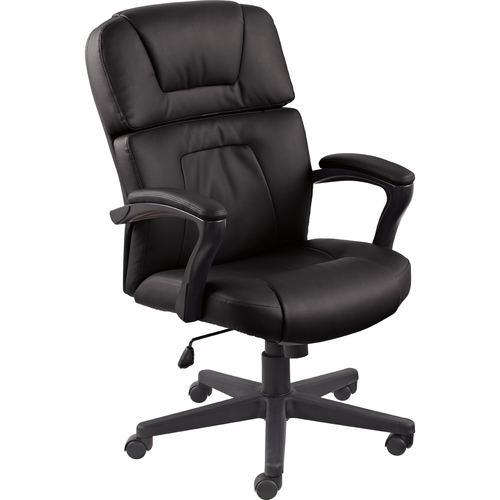 Offices To Go Pacific High Back Tilter - Black - Leather - 1 Each