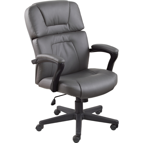 Offices To Go Pacific High Back Tilter - Charcoal - Leather - 1 Each