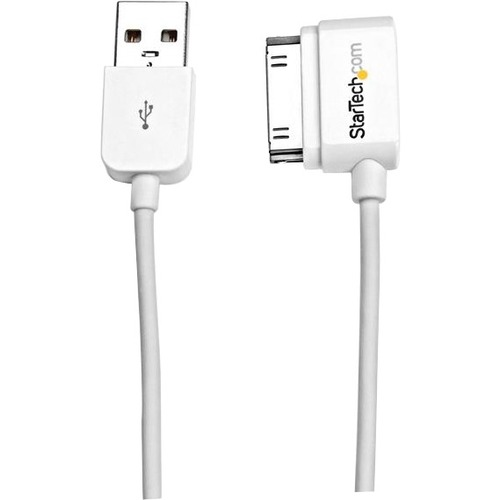 StarTech.com 2m 6 ft USB Left Angle Cable for iPhone / iPod / iPad with Stepped Connector