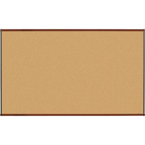 "Lorell Bulletin Board - 72"" (1828.80 mm) Height x 48"" (1219.20 mm) Width - Natural Cork Surface - Self-healing, Durable - Mahogany Wood Frame - 1 Each"