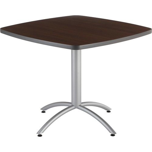 """Iceberg CafeWorks 36"""" Square Cafe Table - Melamine Square Top - Powder Coated Base - 1.13"""" Table Top Thickness - 30"""" Height x 36"""" Width x 36"""" Depth -"""