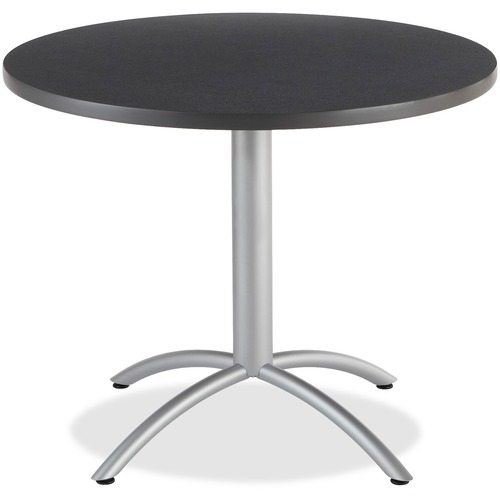 """Iceberg CafeWorks 36"""" Round Cafe Table - Melamine Round Top - Powder Coated Base - 1.13"""" Table Top Thickness x 36"""" Table Top Diameter - 30"""" Height - A"""