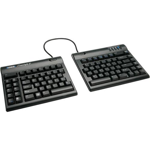 Kinesis Freestyle2 Keyboard for PC, US English Legending, Black, 9 inch maximum