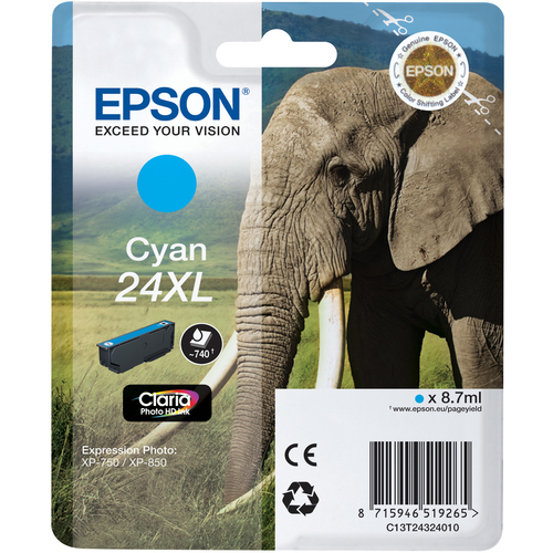 Epson Claria 24XL Ink Cartridge - Cyan