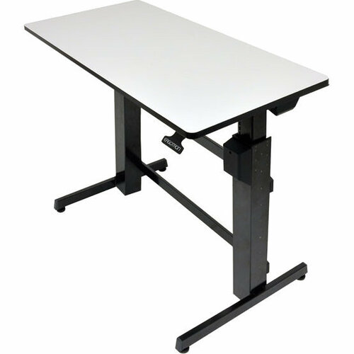 Ergotron WorkFit-D, Sit-Stand Desk (Light-Grey Surface)