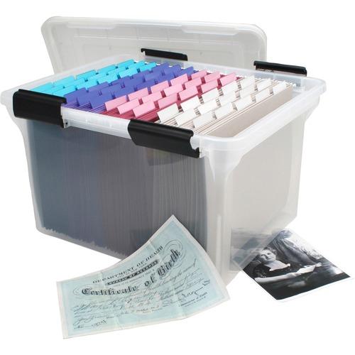 """Portable File Box w//Folders Handle,13-3//4/""""x11-1//2/""""x11/"""",BK PFX41742"""