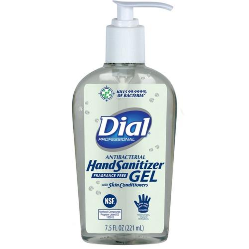 Dial Sanitizing Gel - Pump Bottle Dispenser - Kill Germs - Hand - Clear - 1 Each