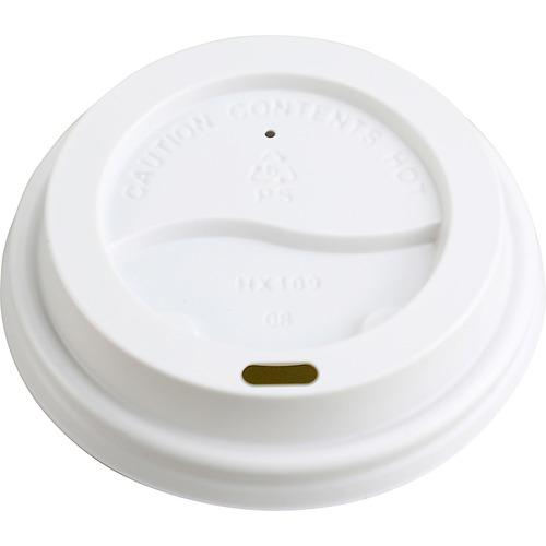 Genuine Joe Ripple Hot Cup Protective Lids - Polystyrene - 50 / Pack - White