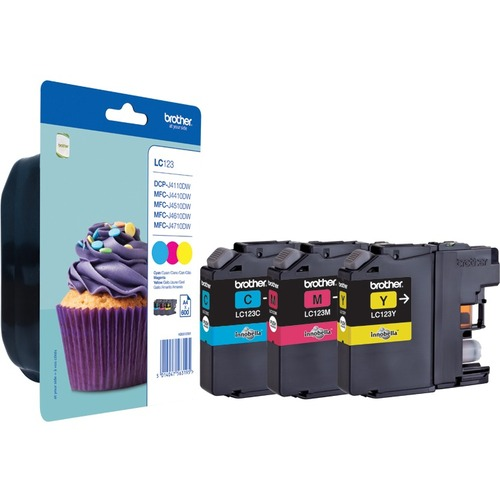 Brother LC123 Ink Cartridge - Cyan, Magenta, Yellow