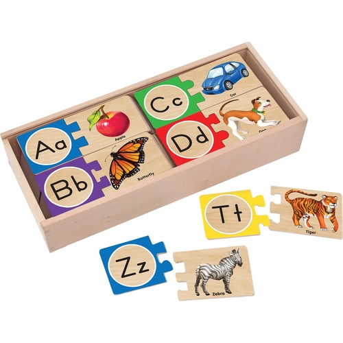Melissa & Doug Self-Correcting Alphabet Letter Puzzles - Theme/Subject: Learning - 4-6 Year52 Piece