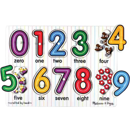 Melissa & Doug See-Inside Numbers Peg Puzzle - 10 pieces - Theme/Subject: Learning - Skill Learning: Number Recognition, Eye-hand Coordination, Fine Motor, Visual Perception, Counting - 2 Year & Up - 10 Pieces