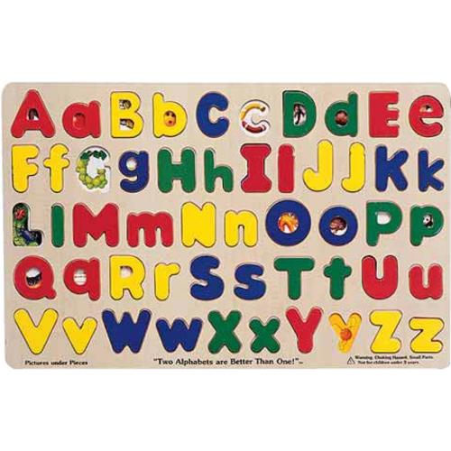 Melissa & Doug Upper & Lower Case Alphabet Puzzle - Theme/Subject: Fun - 4+52 Piece