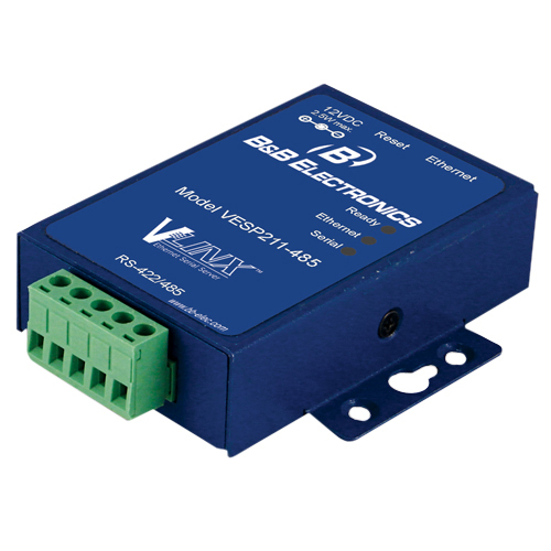 B&B 1 PORT MINI SERIAL SERVER, RS-422/485, US PS