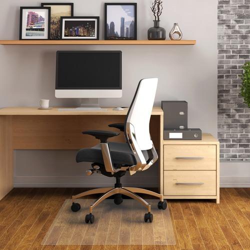 Cleartex Advantagemat Rectangular Chair Mat Hard Floor Home