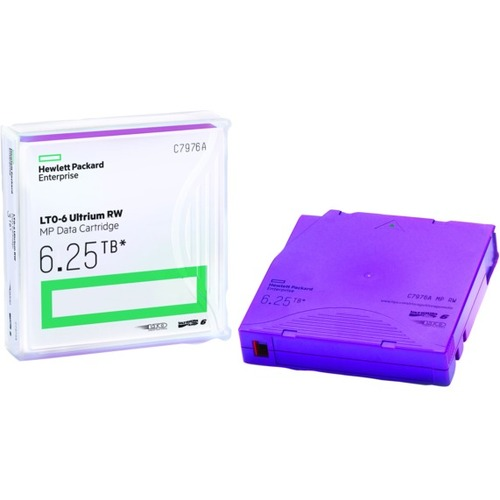 HP LTO-6 Ultrium 6.25TB MP RW Non Custom Labeled Data Cartridge 20 Pack