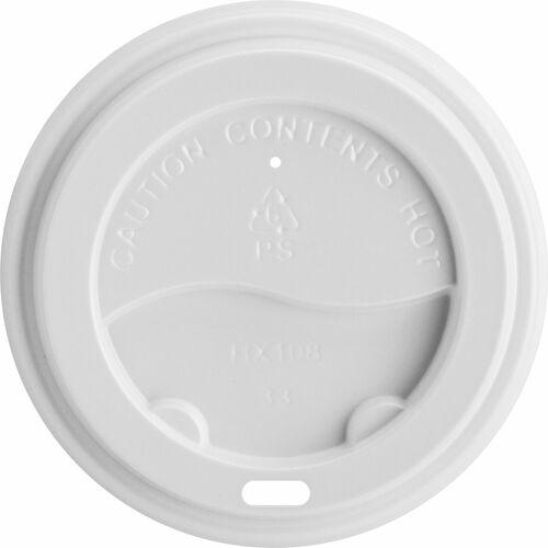 Genuine Joe Hot Cup Lids - Polystyrene - 50 / Pack - White