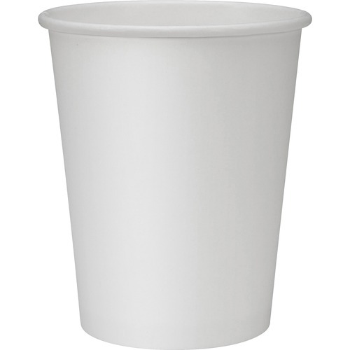 Polyurethane-lined Disposable Hot Cups - 8 oz - 50 / Pack - White - Polyurethane - Beverage, Hot Drink
