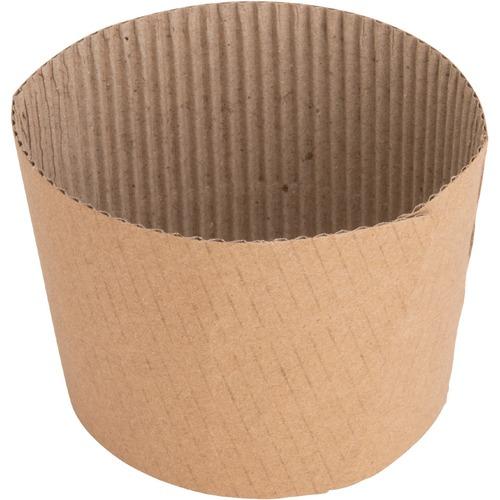 Genuine Joe Protective Corrugated Cup Sleeve - 50 - Brown