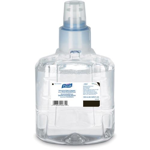 PURELL® Sanitizing Foam Refill - 1.20 L - Hand - Clear - Fragrance-free, Dye-free - 1 Each