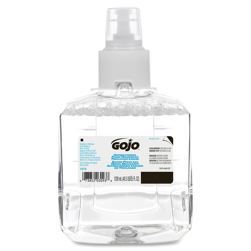Gojo® Sanitizing Foam Refill - 1.20 L - Kill Germs - Hand, Skin - Dye-free, Fragrance-free, Rich Lather - 1 Each