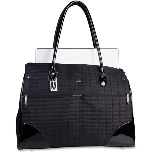 """Travelpro Carrying Case (Tote) for 15.6"""" Notebook - Black - MicroFiber - Handle - 13.25"""" (336.55 mm) Height x 18.25"""" (463.55 mm) Width x 4.75"""" (120.65 mm) Depth - 1 Pack"""